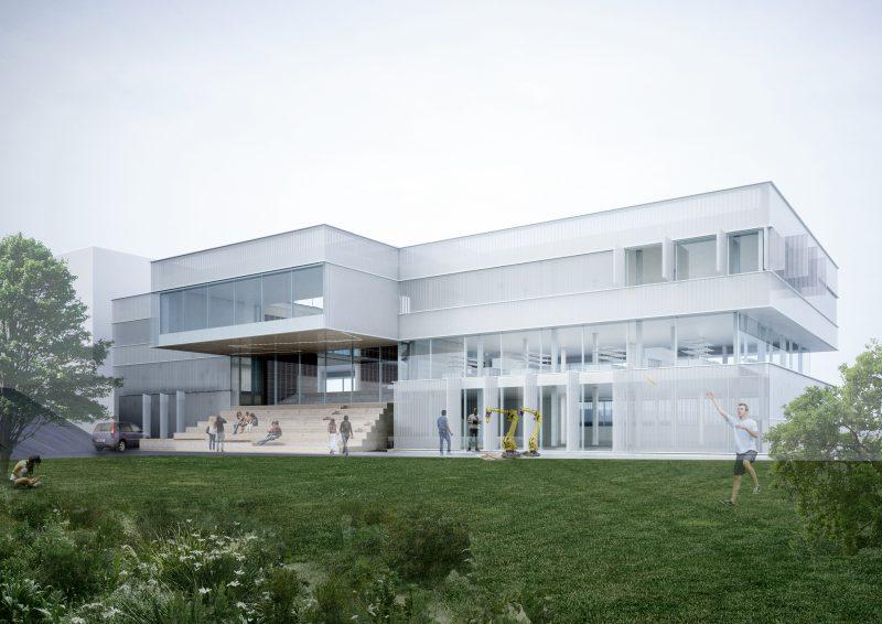"""Būsima KTU Studentų miestelio pažiba KTU """"M-Lab"""": apželdinti stogai, bioplastiko sienelės, nauja Studentų alėja"""
