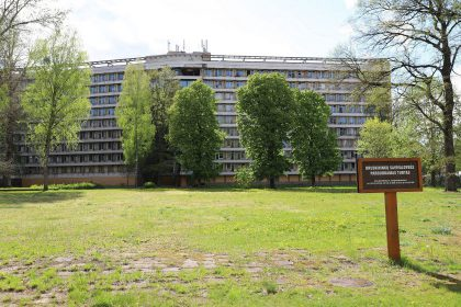 """Paskelbtas pakartotinis buvusios """"Nemuno"""" sanatorijos pastatų elektroninis aukcionas"""