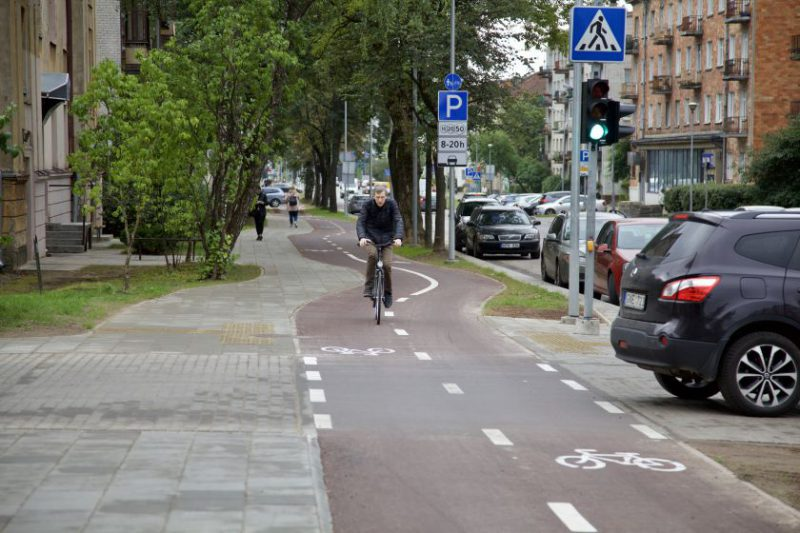 Naujas dviračių takas sujungė Žirmūnus ir Šnipiškes