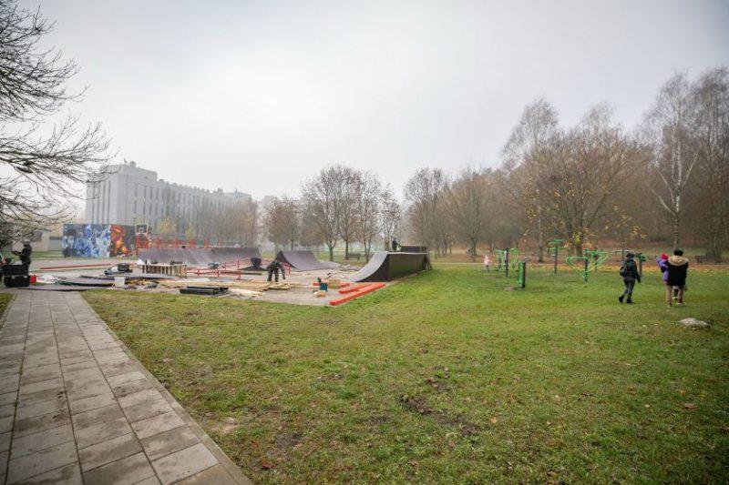Šį rudenį Vilniuje bus atnaujinti dar du riedutininkų parkai